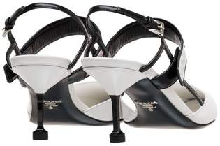 Prada Two-Tone Leather Slingbacks