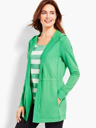 Talbots Pigment-Dyed Terry Cardigan