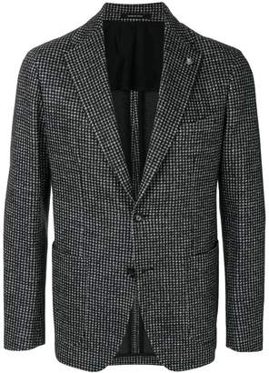 Tagliatore vichy printed blazer