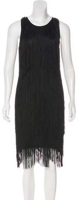 Ella Moss Knit Fringe-Trimmed Dress