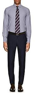 Barneys New York MEN'S CHECKED COTTON POPLIN DRESS SHIRT-WHITE SIZE 15 R