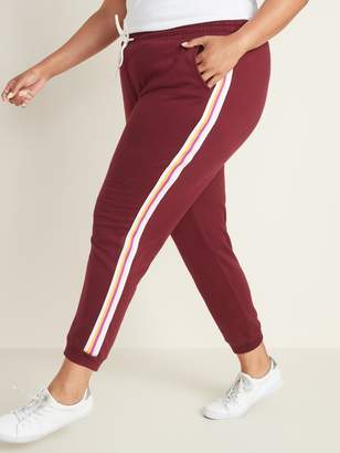 Old Navy Side-Stripe French Terry Plus-Size Joggers
