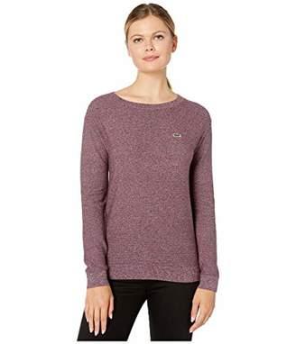 Lacoste Women's Long Sleeve Cotton Boatneck Sweater