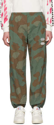 Off-White Green and Brown Camo Lounge Pants