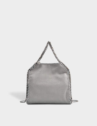 Stella McCartney Minibella Tote Silver Chain Bag in Light Grey Eco Leather