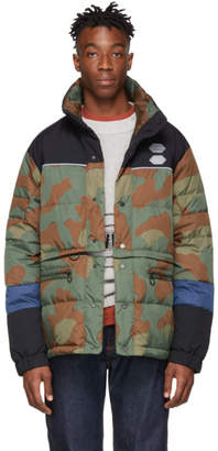 Off-White Green and Brown Camo Down Puffer Jacket