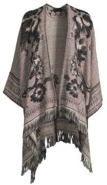 Etro Floral Knit Wool-Blend Cape