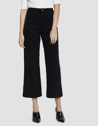 Stelen Lisa Wide Leg Corduroy Pant in Black