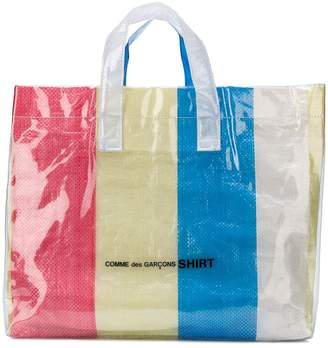 Comme des Garcons striped large tote