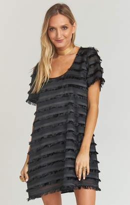 Show Me Your Mumu Demi Dress ~ Party Fringe Black