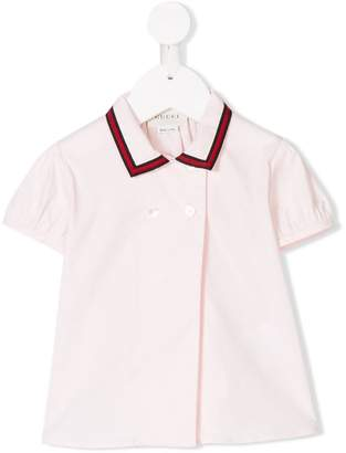 Gucci Kids web-trimmed shirt