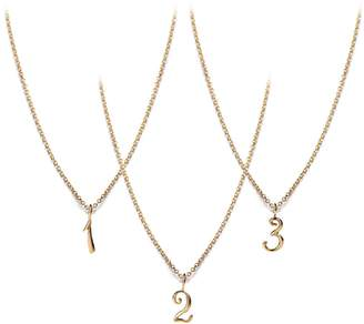 Lulu Frost CODE Number Necklace 14k Gold