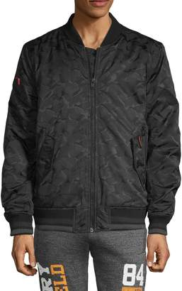 Superdry Camouflage Zip-Front Bomber Jacket