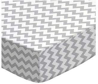 Stokke SheetWorld Fitted Oval Crib Sheet Sleepi) - Made In USA