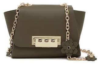 Zac Posen Eartha Mini Leather Floral Charm Crossbody Bag