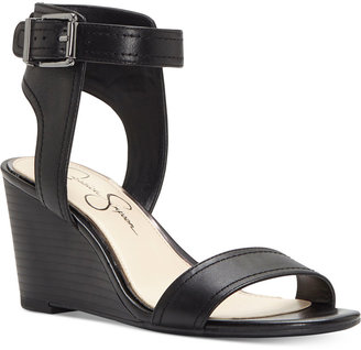Jessica Simpson Cristabel Two-Piece Wedge Sandals $79 thestylecure.com