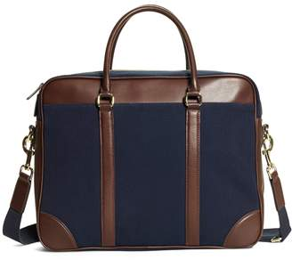 Brooks Brothers Canvas Soft Briefcase