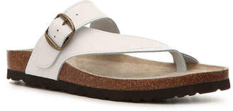 White Mountain Carly Leather Flat Sandal - Women's