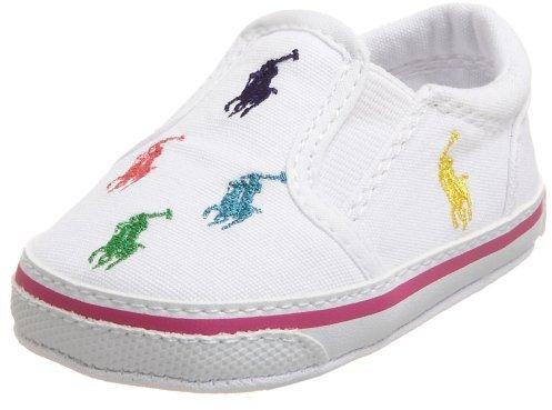 Ralph Lauren Bal Harbour Crib Shoe (Infant/Toddler),White,3 M US Infant