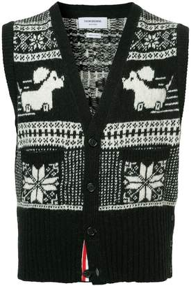 Thom Browne intarsia-knit sweater vest