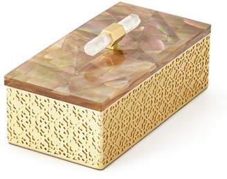 Kendra Scott Rectangle Filigree Brass Box