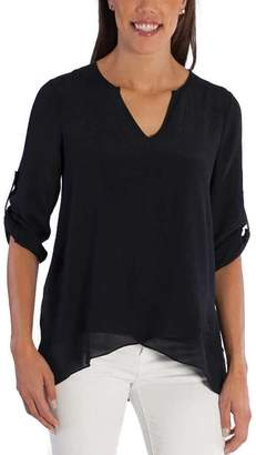 Fever Ladies' Roll Tab Blouse