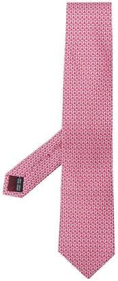 Salvatore Ferragamo Gancini printed tie