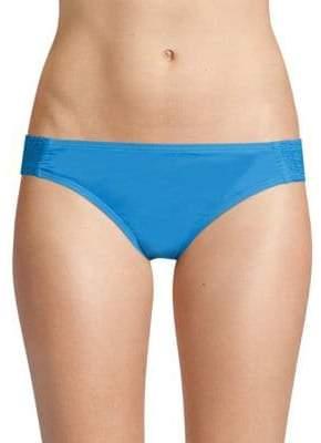 Carmen Marc Valvo Side Smocked Bikini Bottom