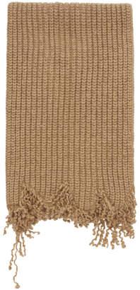 Marni Beige Knit Scarf