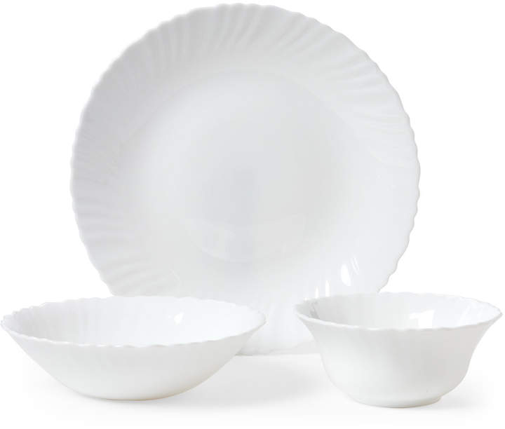 Gibson Home 12-Piece White Radley Dinnerware Set