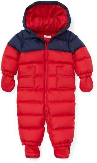Ralph Lauren Kids Ralph Lauren Kids | Quilted Ripstop Down Bunting | 18-24 months | Polo sport red
