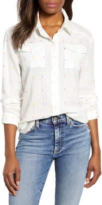 Caslon Clip Dot Detail Button Down Shirt