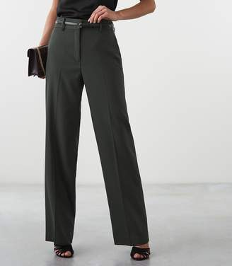 Reiss Our last order date for Christmas has now passed MILA WIDE LEG TROUSERS Khaki