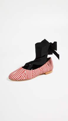 Sylvie Trademark Gingham Ballet Flats