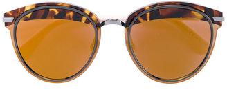 tortoiseshell brim sunglasses