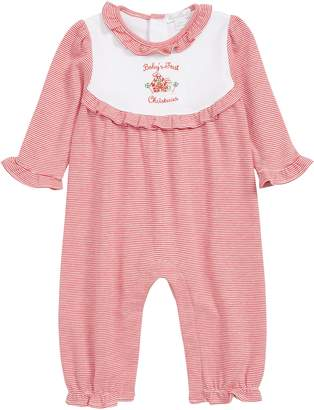 Kissy Kissy Baby's First Christmas Romper