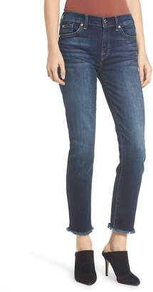7 For All Mankind b(air) Roxanne Frayed Ankle Slim Jeans