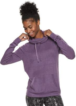 Tek Gear Women's Pocket Front Cowlneck Top