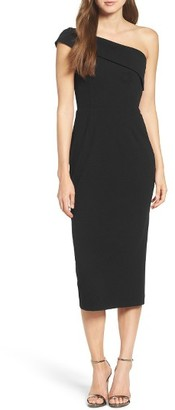 Women's Katie May One-Shoulder Midi Sheath Dress $260 thestylecure.com