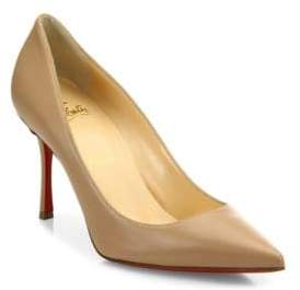 Christian Louboutin Decoltish 85 Leather Point Toe Pumps