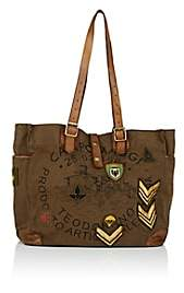 Campomaggi Women's Leather-Trimmed Canvas Tote Bag - Brown
