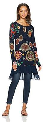 Desigual Women's Donovan Woman Flat Knitted Thin Gauge Pullover