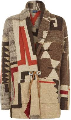 Polo Ralph Lauren Knitted Patchwork Cardigan