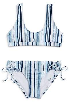 Splendid Girls' Striped 2-Piece Swimsuit - Big Kid