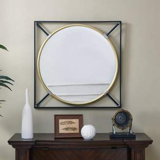 Southern Enterprises Salgore Oversized Decorative Wall Mirror, Eclectic Style, Black w/ Gold