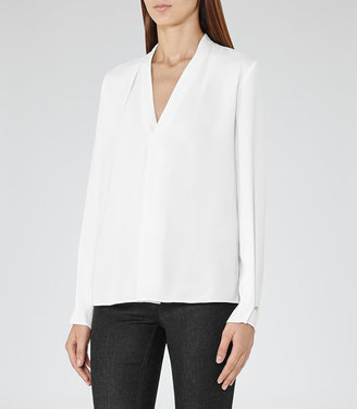 Mapel Long-Sleeved Wrap Top $195 thestylecure.com