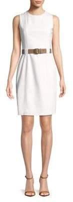 Calvin Klein Belted Sheath Dress