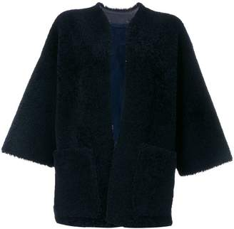 Maison Margiela shearling open front jacket