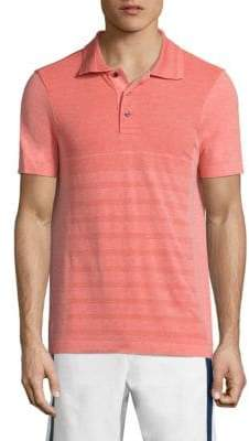 Vilebrequin Active Belrose Intarsia Striped Heathered Polo