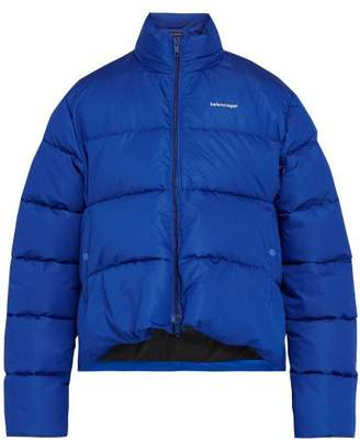 Balenciaga C Shaped Quilted Jacket - Mens - Blue